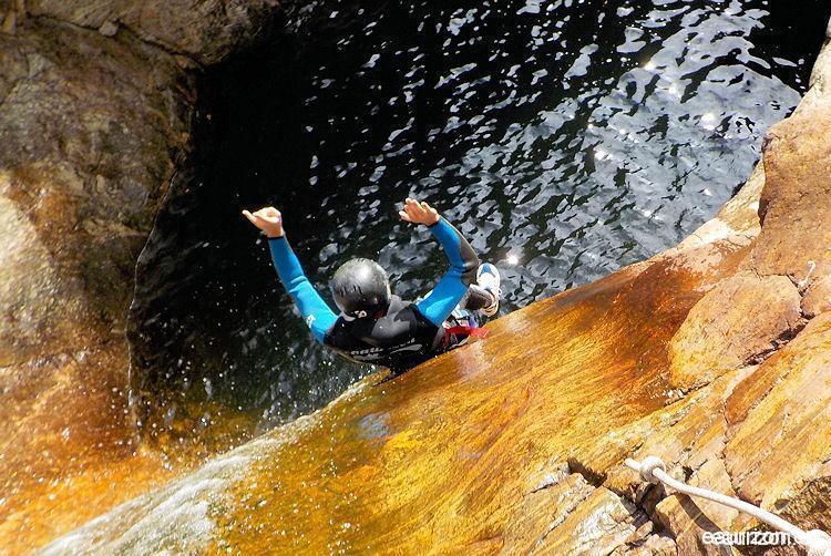 Canyoning Grand Rec - Caroux - Herault - Eaurizon