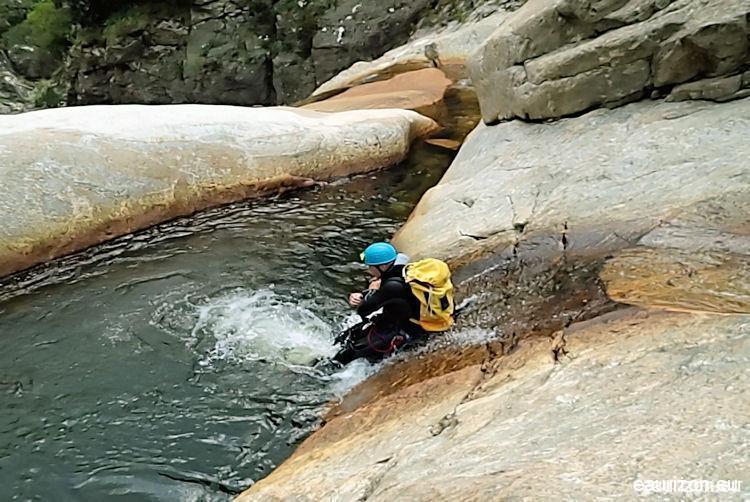 Canyoning Rec Grand - Caroux - Herault - Eaurizon